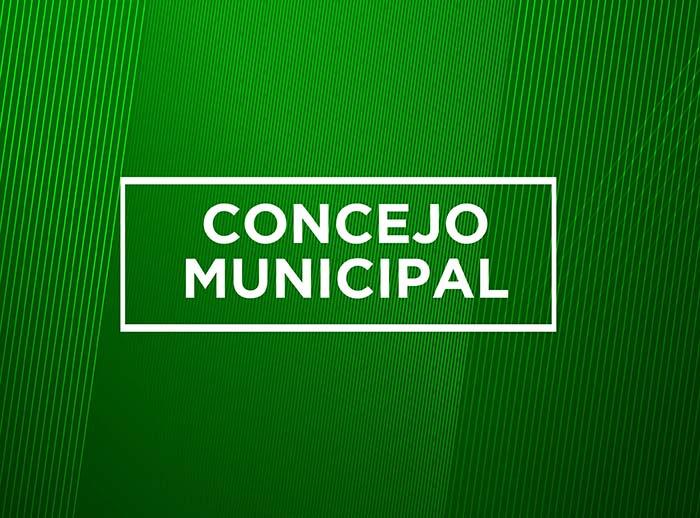 TABLA SESIÓN EXTRAORDINARIA DE CONCEJO MUNICIPAL-MIÉRCOLES 30.10.2019