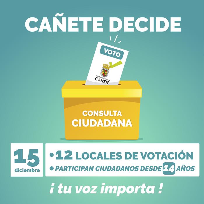 CONOZCA LOS LOCALES DE VOTACIÓN EN CAÑETE PARA LA CONSULTA CIUDADANA DEL 15 DE DICIEMBRE