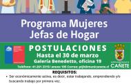 POSTULACIONES PROGRAMA MUJERES JEFAS DE HOGAR