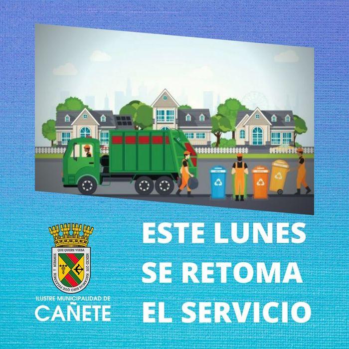 ESTE LUNES SE RETOMARÁ NORMALMENTE EL RETIRO DE BASURA