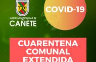 CUARENTENA COMUNAL SE EXTENDERÁ POR 2 SEMANAS