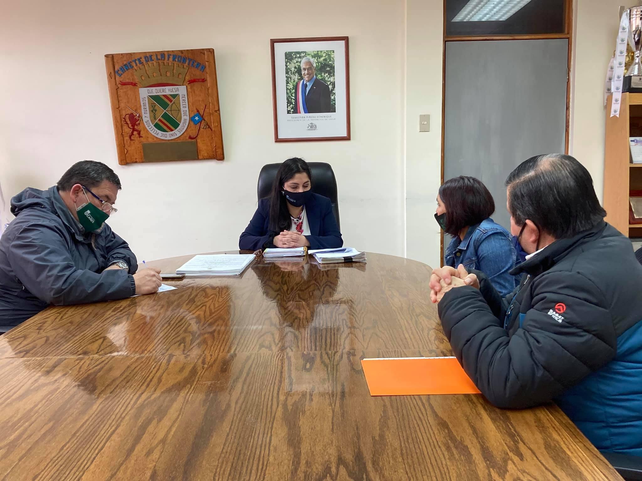 MUNICIPIO DE CAÑETE SE REÚNE CON LA CÁMARA DE COMERCIO PARA EVALUAR PROPUESTAS EN EL MARCO DE LA PANDEMIA