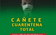 MINISTERIO DE SALUD DECRETA CUARENTENA TOTAL PARA CAÑETE