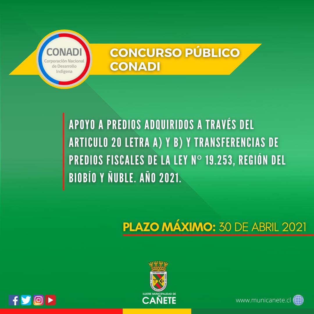LLAMADO A CONCURSO PÚBLICO PARA APOYO DE HABITABILIDAD DE PREDIOS ADQUIRIDOS POR COMUNIDADES INDÍGENAS