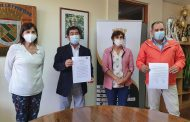 MUNICIPIOS DE CAÑETE Y CONTULMO OFICIALIZAN USUFRUCTO DE TERRENO QUE ALBERGARÁ FUTURA SEDE EN TRANGUILBORO