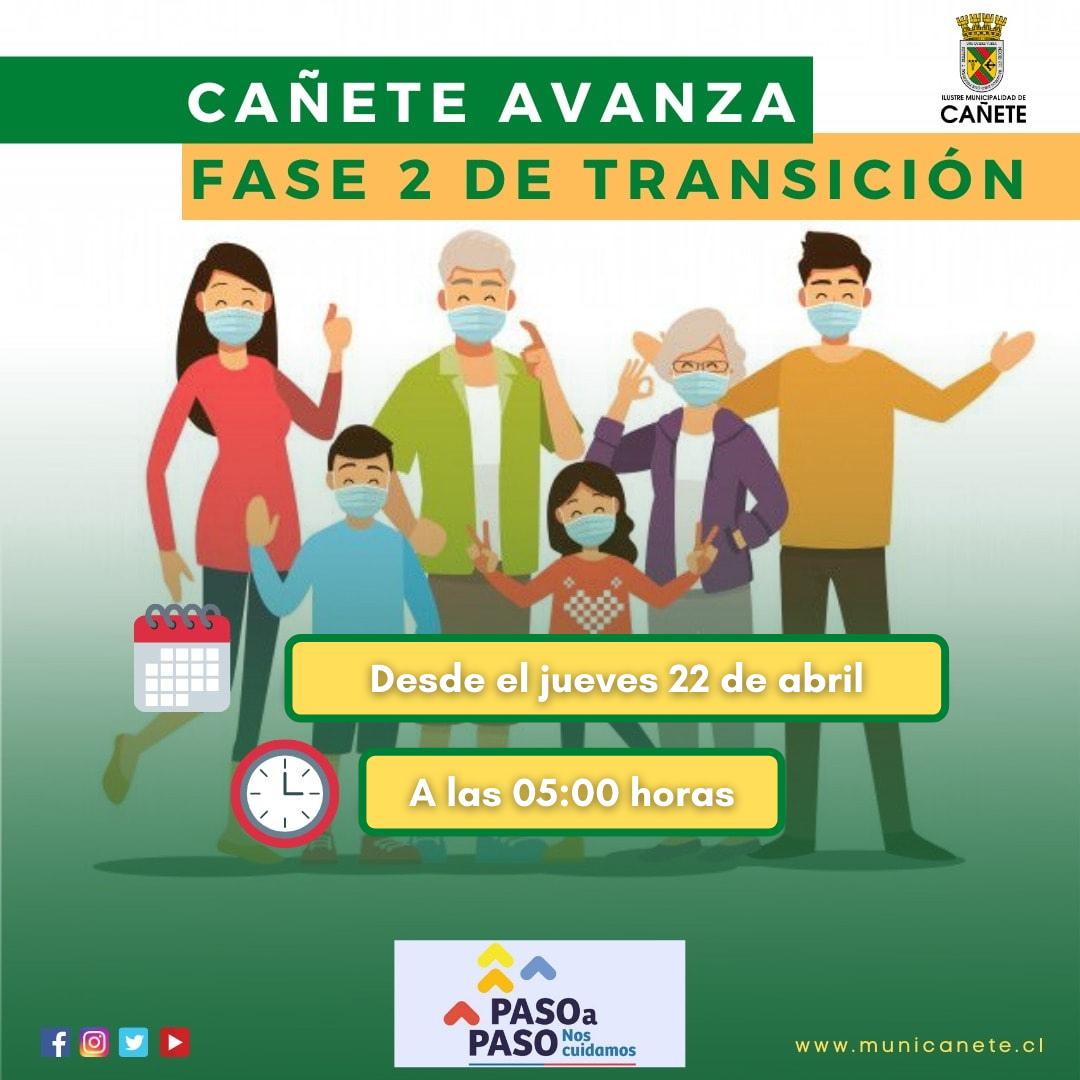 CAÑETE AVANZA A FASE 2 DE TRANSICIÓN EN EL PLAN PASO A PASO