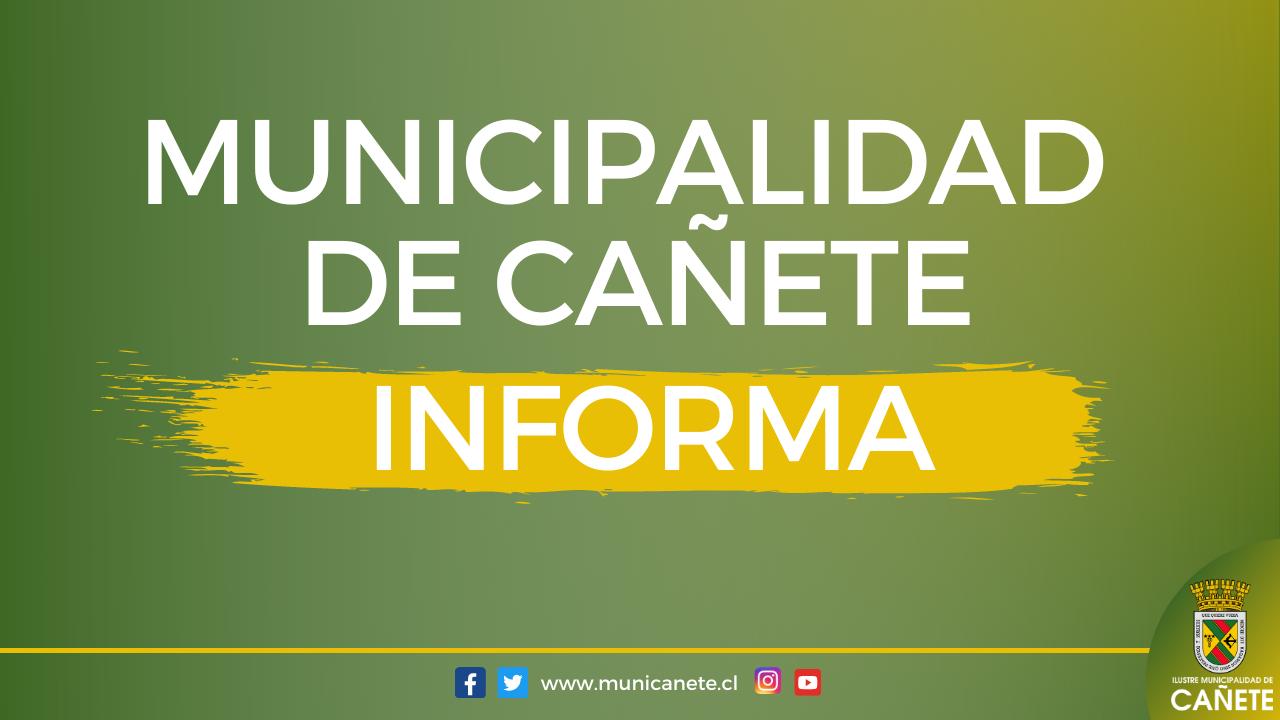 DECLARACIÓN PÚBLICA DE LA I. MUNICIPALIDAD DE CAÑETE