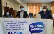 JEFE COMUNAL ENTREGA SUBVENCIONES A CUATRO ORGANIZACIONES SOCIALES DE CAÑETE