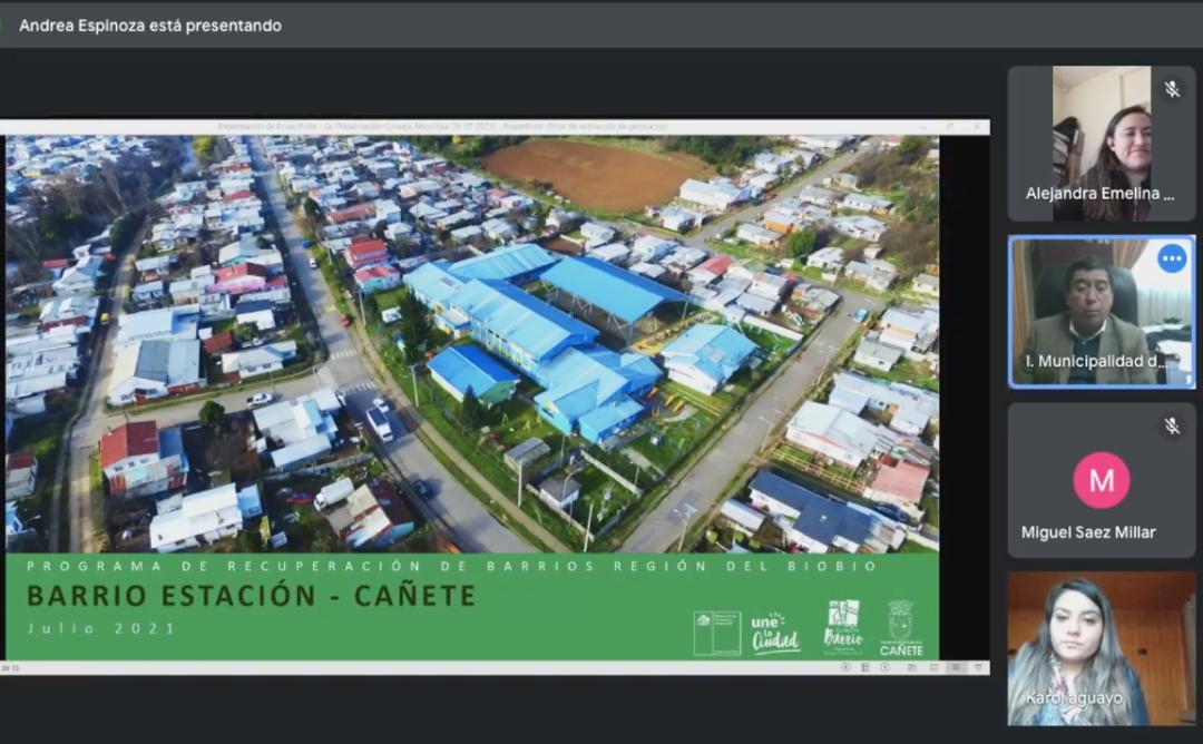 Equipo de Quiero Mi Barrio expone en el Concejo Municipal de Cañete
