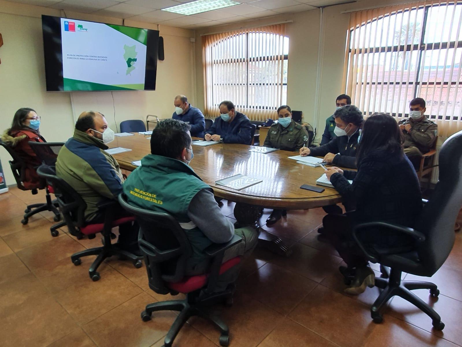 PRESENTAN PLAN DE PROTECCIÓN CONTRA INCENDIOS FORESTALES TEMPORADA 2021-2022