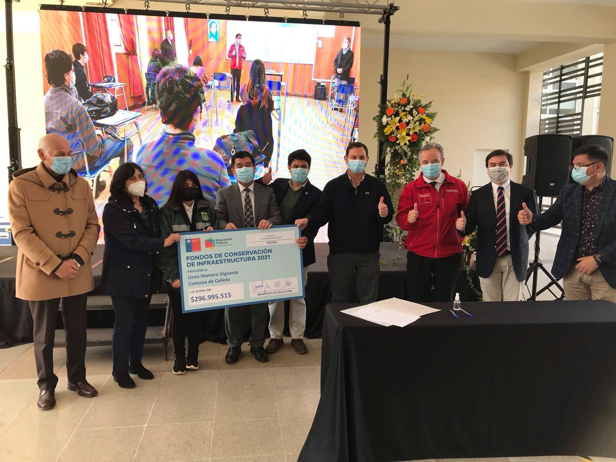 Liceo de Cañete se adjudica millonario proyecto de conservación
