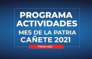 CONOCE EL PROGRAMA DE ACTIVIDADES FIESTAS PATRIAS CAÑETE 2021